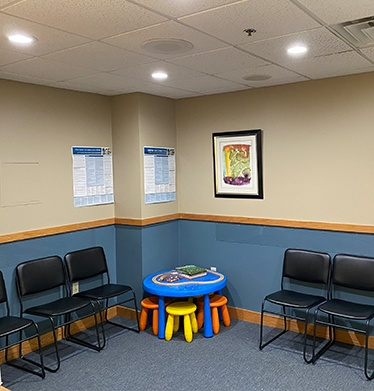 Mt Pleasant dental office waiting room