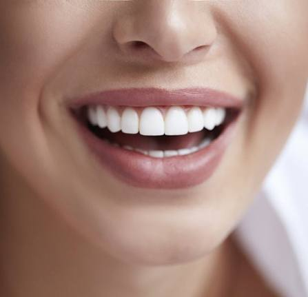 close up smile straightened by Invisalign clear braces in Milwaukee